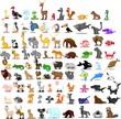 Супер набор из 90 симпатичных мультяшных животных