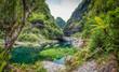 canvas print picture - Hidden Paradise, Takamaka, La Réunion