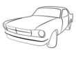 Muscle Car Vintage Oldtimer Tribal