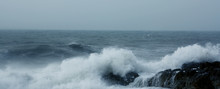 Waves Crashing In A Very Rough Sea