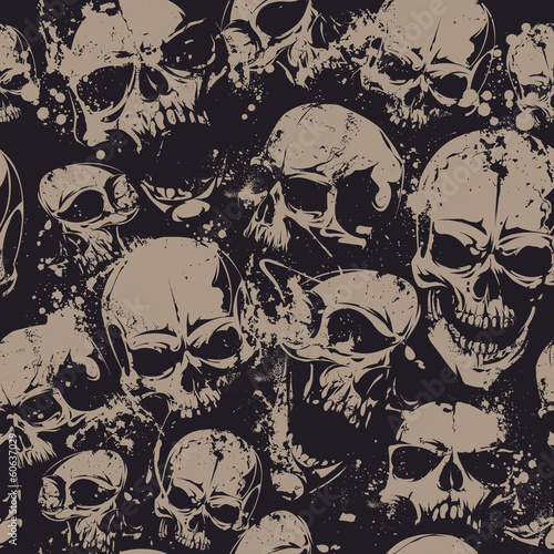 Recess Fitting Pattern Grunge skulls seamless