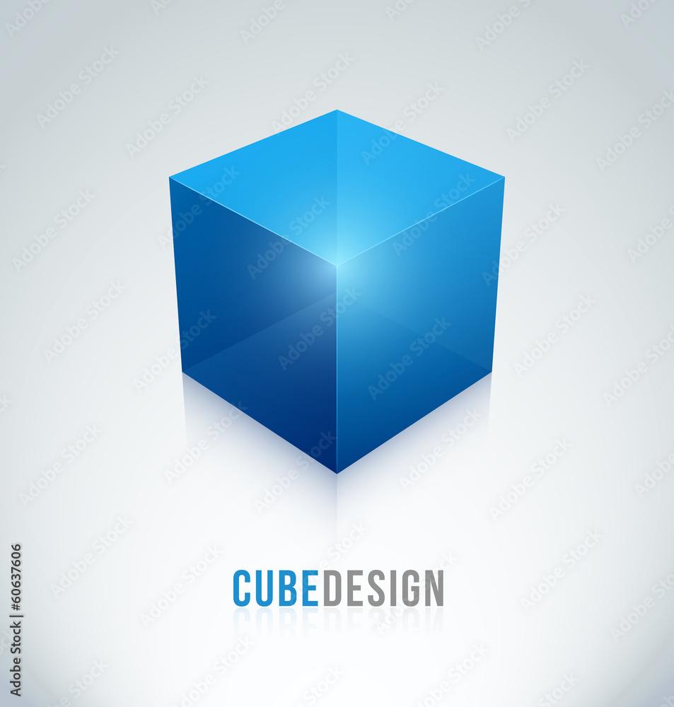 Fototapeta logo cube