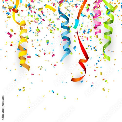 Fotografia  Birthday background with confetti