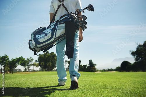 Poster Golf Golf bag man