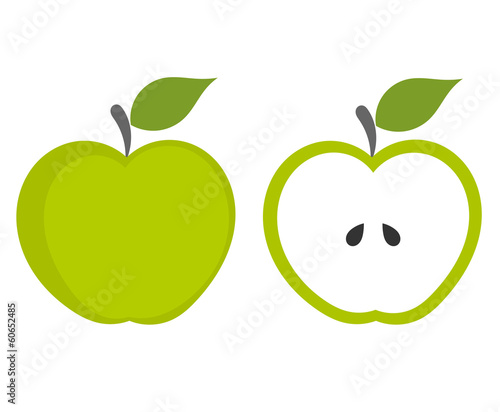 Green apple Fotobehang