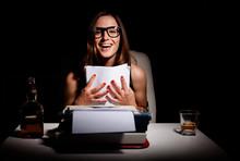 Young Female Novelist Is Happy...