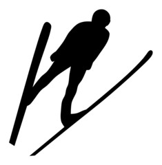 Panel Szklany Sport Silhouette of Ski Jumper