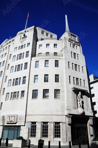 BBC Broadcasting House Canvas Print