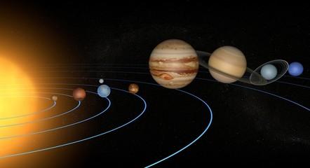 Fototapeta widok układu słonecznego