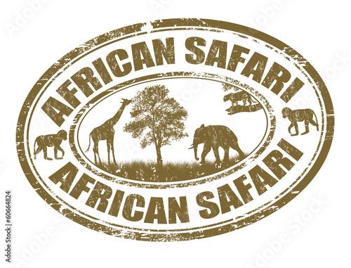 African safari stamp Wall mural
