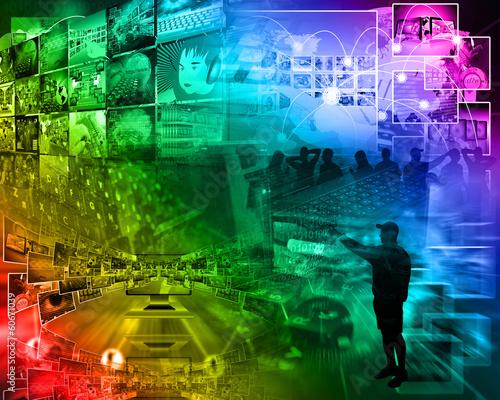 Foto op Plexiglas Stadion world of internet