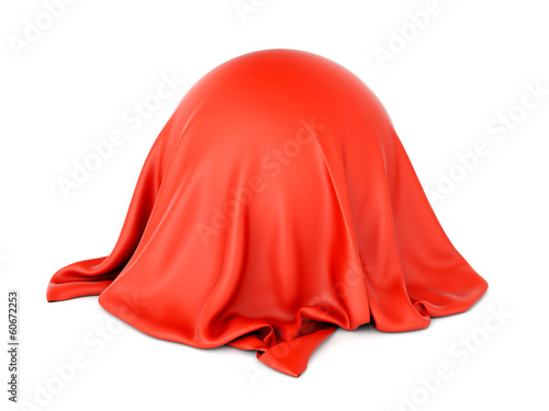 Fotografía  Sphere object covered with red cloth