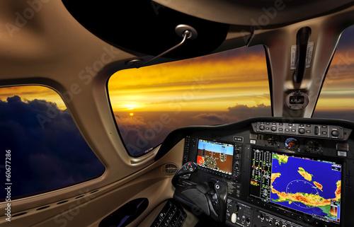 Photo Cockpit at sunset