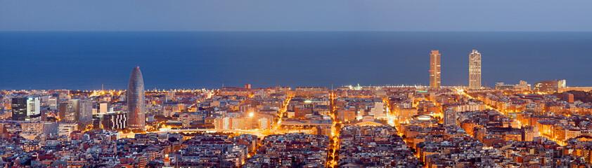 Barcelona skyline panorama ...