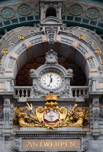 Keuken foto achterwand Antwerpen Antwerp Central clock