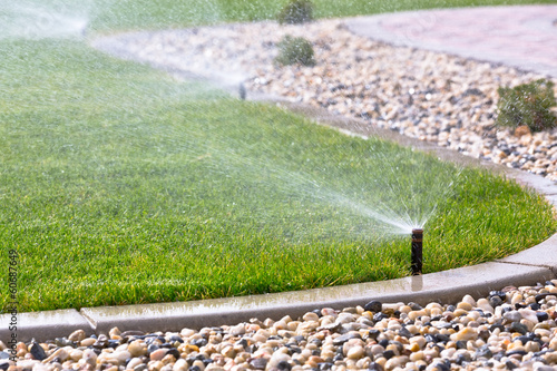 Recess Fitting Garden Sprinklers watering grass