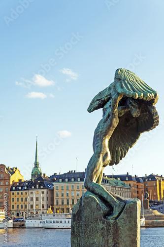 Staande foto Kiev Stockholm, Sweden , Sculpture in the urban environment