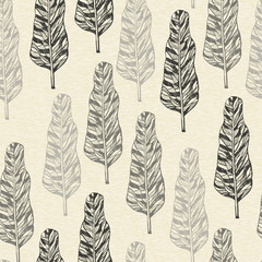 Fototapeta Drzewa Vector Seamless Pattern with trees