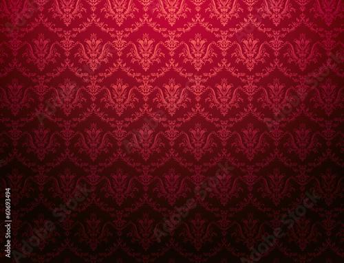 cardinal red floral pattern wallpaper