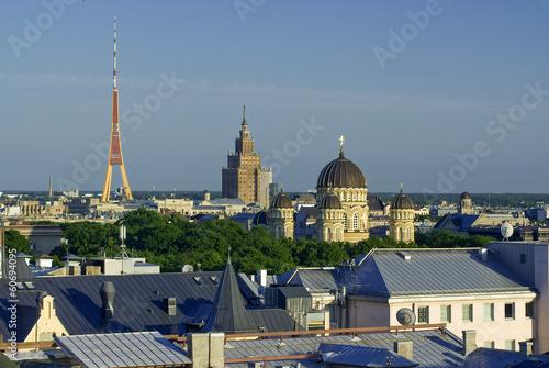 Photo Stands Kuala Lumpur Stadtübersicht auf Riga, Lettland