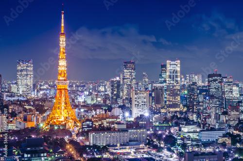 Foto op Aluminium Tokyo Tokyo, Japan at Tokyo Tower