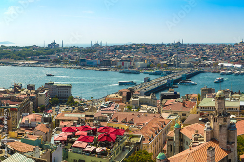 Photo  Istanbul panoramic view from Galata tower. Turkey
