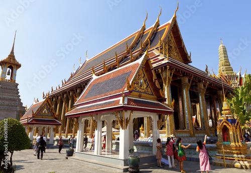 Deurstickers Bedehuis Wat Phra Kaeo, Temple of the Emerald Buddha,Bangkok,Thai land