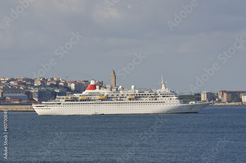Fotografie, Obraz  Transatlantic cruise ship sailing along the Atlantic