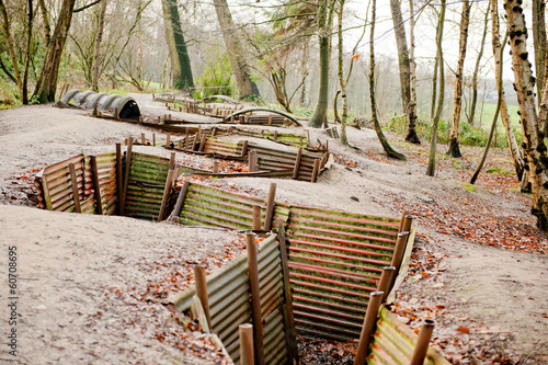 Fotografia Okręty WW1, Sanctuary Wood, Ypres, Belgia
