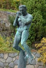 The Man Praying Sculpture In Millesgarden, Stockholm