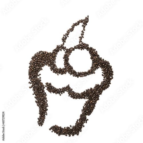 Fotobehang Koffiebonen Coffee Bean Muffin