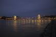 Illuminated Szechenyi Chain Bridge, Budapest, Hungar