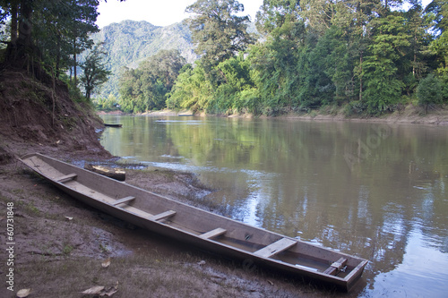 Poster Channel Canoe near Tham Kong Lo cave, Laos