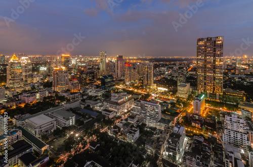 Fotografie, Obraz  Modern Commercial City (Bangkok)