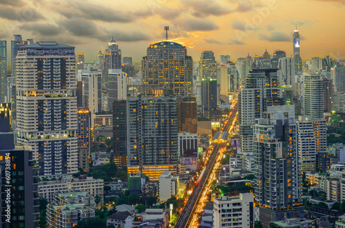Photo Modern Commercial City (Bangkok)