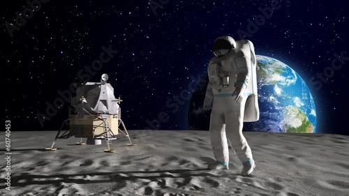 Cuadros en Lienzo Astronaut on the Moon