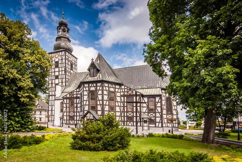 Fototapeta premium Kościół rzymskokatolicki pw. św. Andrzeja Boboli w Miliczu