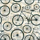 Bezszwowa tekstura bicykl - 60741020