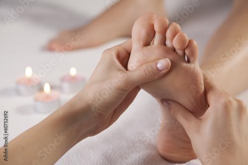 Leinwand Poster Fußmassage