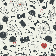 Naklejka Style Hipster seamless pattern