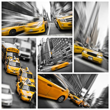 New York Yellow Taxis Collage