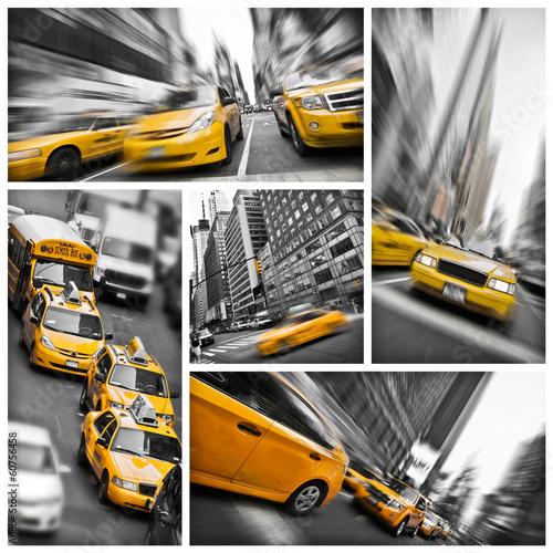 Plakaty żółte taksówki w Nowym Jorku