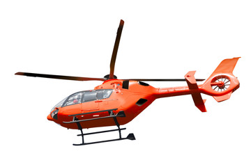 Fototapeta Rescue helicopter isolated