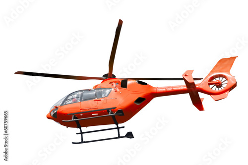 Foto op Canvas Helicopter Rescue helicopter isolated