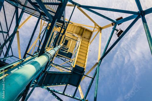 Parachute tower in Katowice, Silesia region