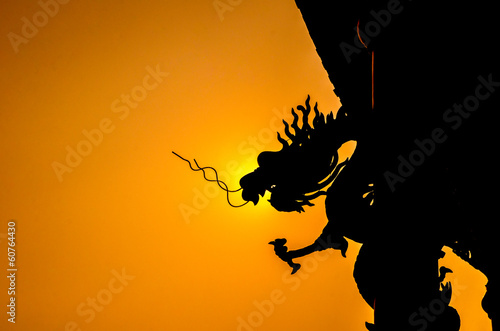 Silhouette Chinese dragon