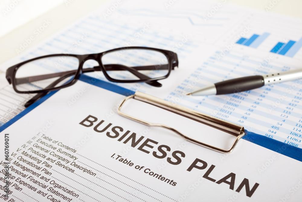 Fototapety, obrazy: Business plan