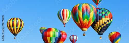 Poster Montgolfière / Dirigeable Colorful hot air balloons