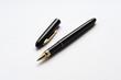 Kugelschreiber auf weißem Hintergrund