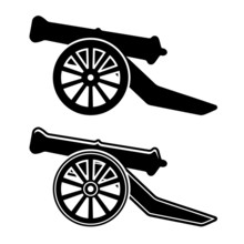 Vector Ancient Cannon Symbol